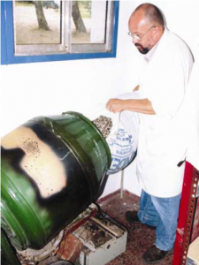 préparation substrat coques de graines de tournesol