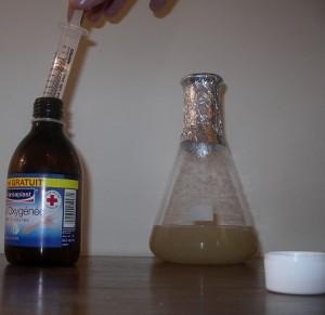 préparation d'une gélose nutritive + H2O2