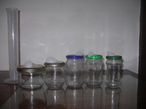 préparation des bocaux pour culture liquide